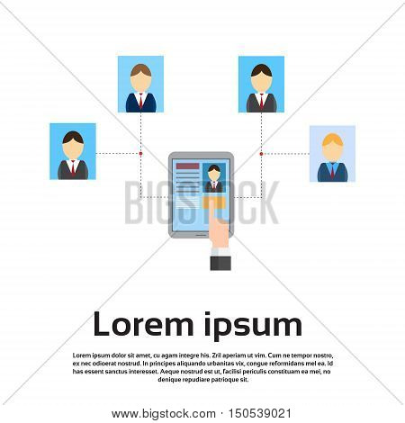 Curriculum Vitae On Tablet Computer Recruitment Candidate Job Position Flat Vector Illustration