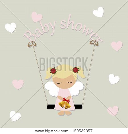 children's background. Pattern to decorate an album or scrapbook. Baby vector illustration. Baby shower or arrival