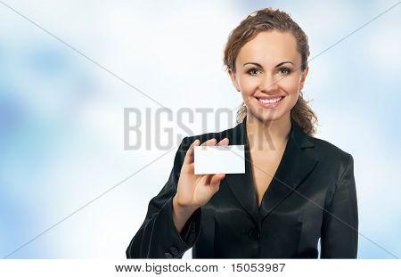 businesswoman in black suit