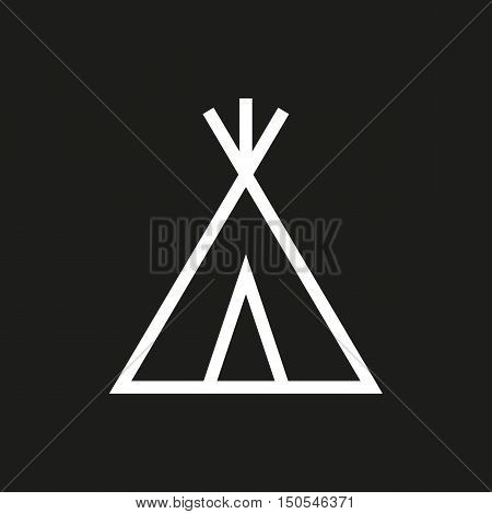 wigwam icon on black background Created For Mobile Web Decor Print Products Applications. Icon isolated. Vector illustration.
