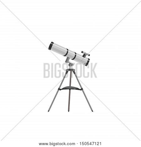 Science Icon. Image Telescope Astronom, flat style. Model telescope of cartoon style.
