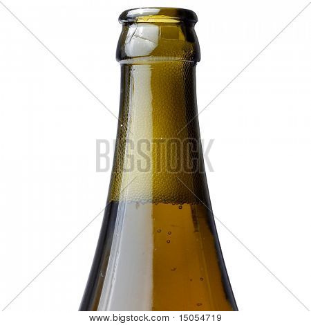 A beer bottle isolated on white