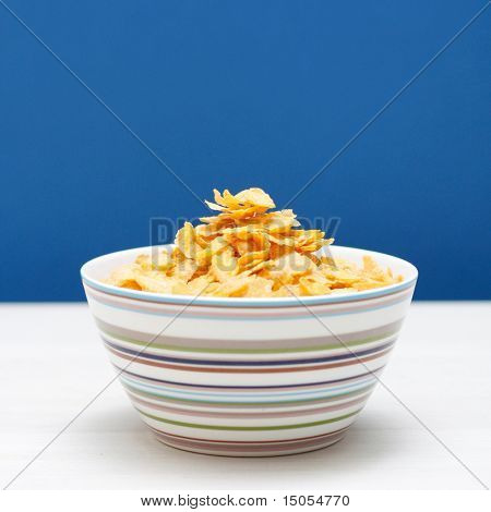 A bowl of corn flakes