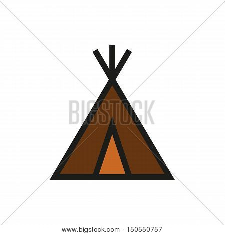 wigwam icon on white background Created For Mobile Web Decor Print Products Applications. Icon isolated. Vector illustration.