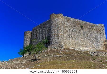 inside the Chlemoutsi fortress in Ilia, Peloponnese, Greece