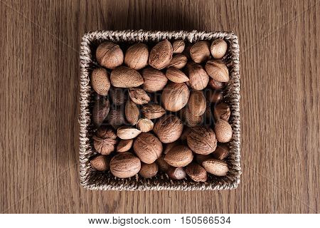 Different Types Of Nuts In Basket