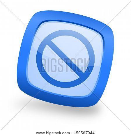 access denied blue glossy web design icon