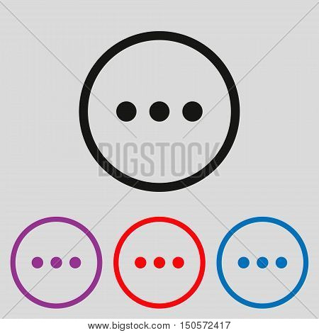 Chat sign icon. three dots symbol Vector illustration for web site mobile application. Simple flat metro design style. Outline Icon. Flat design style.