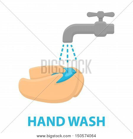 Washing hands icon cartoon. Single sick icon from the big ill, disease collection.