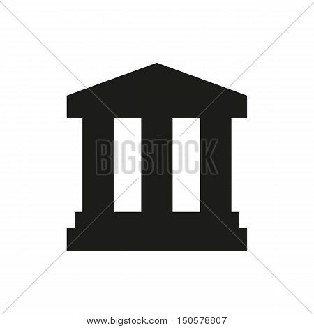 Court Building icon on white background Created For Mobile Infographics Web Decor Print Products Applications. Icon isolated. Vector illustration