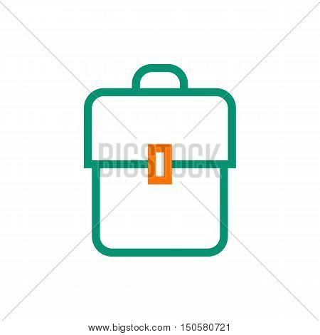 Backpack book bag kitbag knapsack rucksack pack sackpack. Created For Mobile Infographics Web Decor Print Products Applications. Icon isolated. Vector illustration