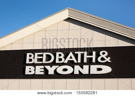 DARTMOUTH CANADA - OCTOBER 06 2016: Bed Bath & Beyond retail outlet. Bed Bath & Beyond is a chain of retail stores in the United States Canada and Mexico.