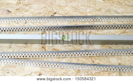 The Metal Level With Perforated Angles