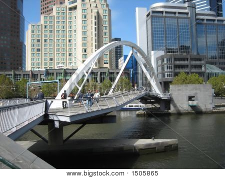 Footbridge Across The Yarra