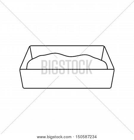 Litter box icon of rastr illustration for web and mobile design