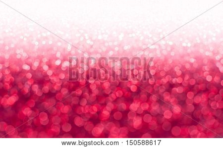 REd pink glitter.Red sparkle. Glitter background. Holiday blurred background.
