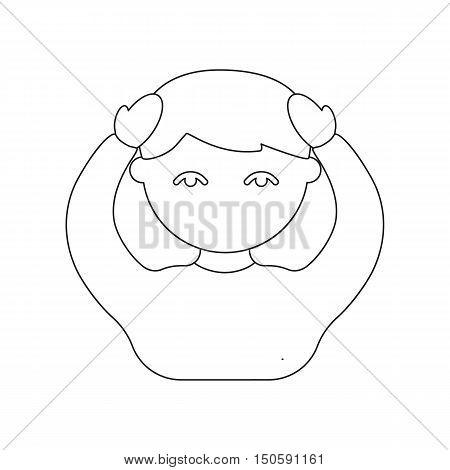 Person with a headache icon cartoon - health and wellness
