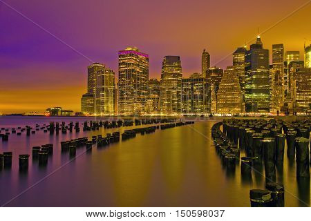 Lower Manhattan  is the place where the New York City began.