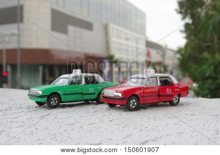 Model Taxi And Figure