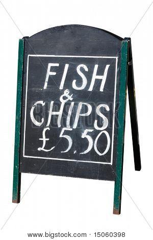 Fish & Chips Zeichen