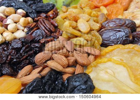 Dried Nuts And Fruits Collection