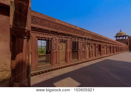 Jahangiri mahal palace in agra fort india,a UNESCO World Heritage site,was built in 11th century