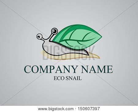stock logo illustration ecology green of slow  snail