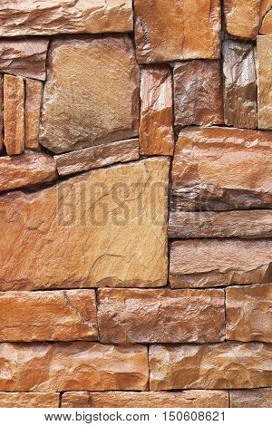 modern slab slate stone wall background .