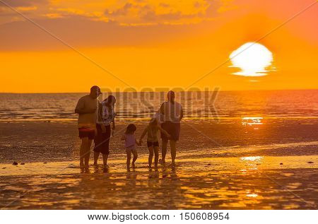 Sunset over Mindil Beach Darwin Northern Territory Australia