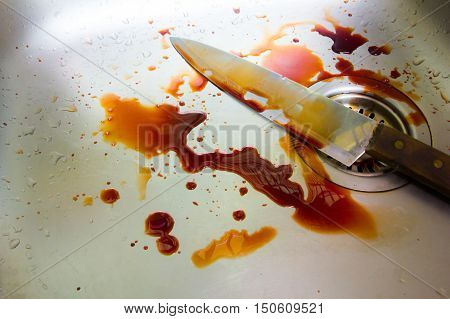 Blood crime scene the movie for background