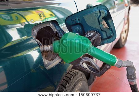 Gas station or fueling station for vehicles - Concept photo for increase of fuel prices