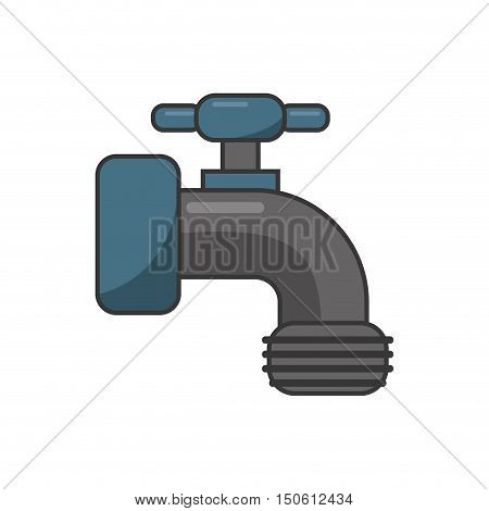 Tap object icon. Ecology renewable and conservation theme. Isolated design. Vector illustration