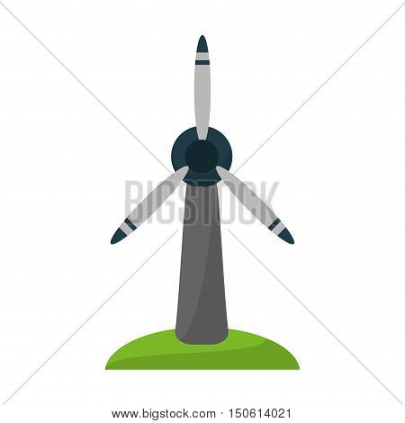 Windmill power icon. Ecology renewable and conservation theme. Isolated design. Vector illustration