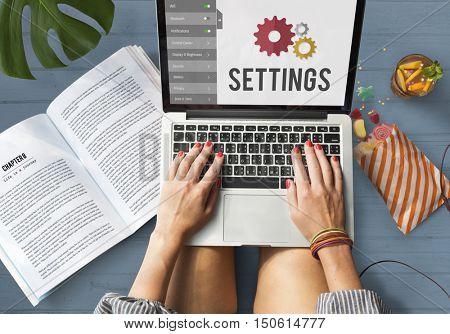 Settings Configuration Setup Tools Concept