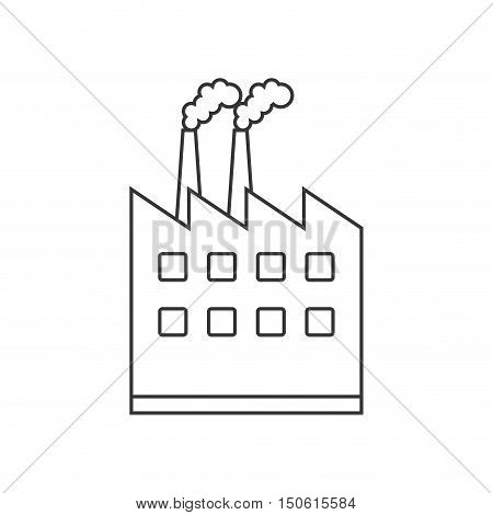 Plant building icon. Factory industry and industrial theme. Isolated design. Vector illustration