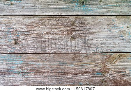 background texture of wooden boards with paint residues