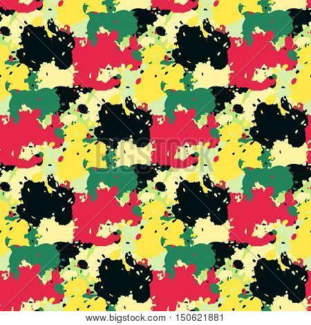 grunge colored graffiti seamless pattern vector illustration abstract high quality
