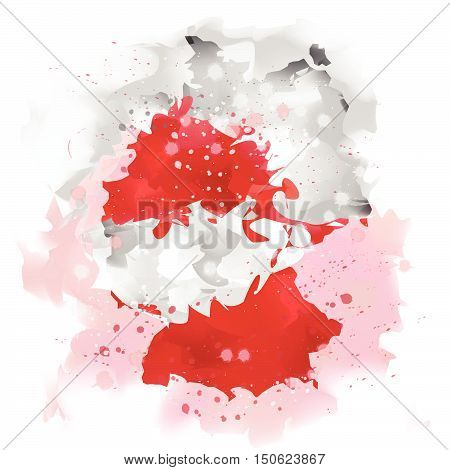 vector maps of Germany  Water color paint