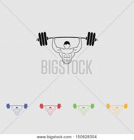 Silhouettes athletes bodybuilding.  vector icon for web and mobile