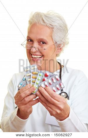 Doctor Showing Pills