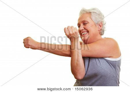 Senior Woman Doing Fitness Exercises