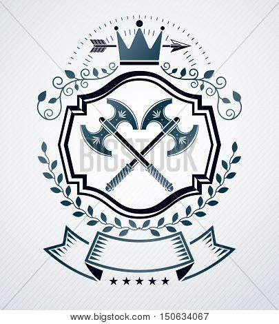 Heraldic Coat Of Arms Decorative Emblem Isolated Vector Illustration.