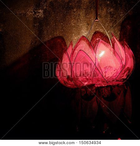 Lantern With Candle At Night