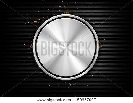 3d Round design with black striped background