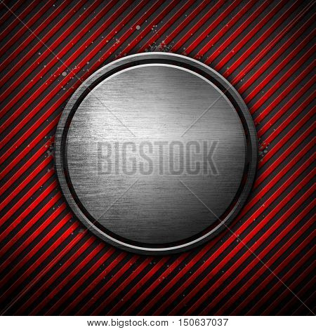 3d Round design with striped background