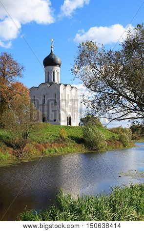 The Church of the intercession on the Nerl Russia