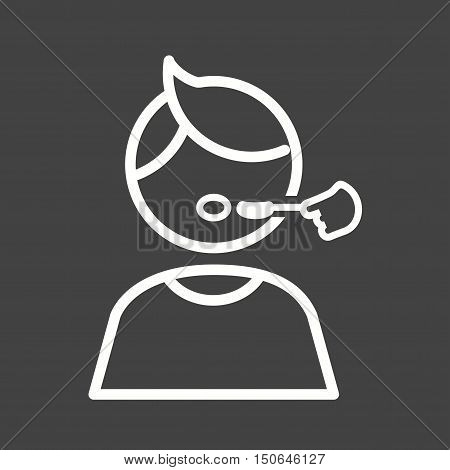 Syrup, medicine, pain icon vector image. Can also be used for kids. Suitable for use on web apps, mobile apps and print media.