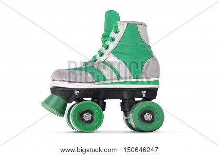 Retro roller skate isolated on a white background.