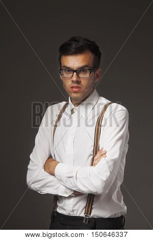 Portrait of a handsome young business man (success integrity honesty hard work youth)