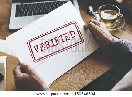 Verified Certified Affirm Authorised Approve Concept